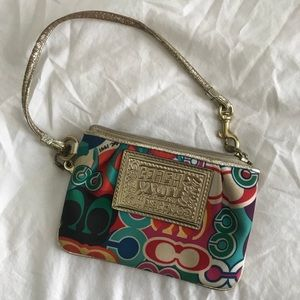 Coach Poppy Multicolor Wristlet
